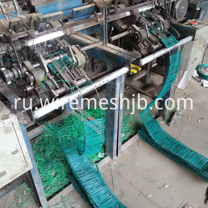 Galvanized double loops wire machine
