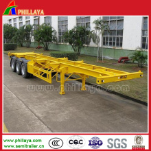 3 Axle Skeleton Frame Semi Trailer for Transportation