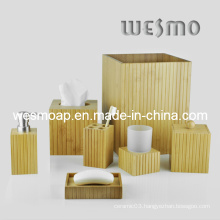 Eco-Friendly Bamboo Bathroom Set/ Bathroom Accessories/ Bath Accessory