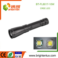 Factory Wholesale Aluminum Material Zoom Focus High Power Handheld 10w Cree xml2 led Torch with 3C size dry battery