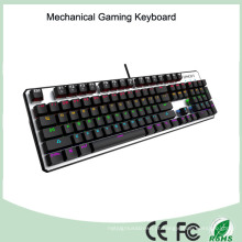 Top Sale CE RoHS LED com fio USB Backlight Mechanical Gaming Keyboard