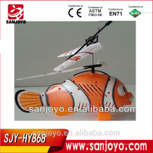 CRAZY FISH!3 CHANNELS RC FISH HELICOPTER,RC FLYING FISH WITH BUBBLE