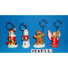 Suporte de clipe decorativo de Natal decorativo com base de resina