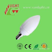 Vela forma CFL 7W-E14 (VLC-CD-7W-E14), lámpara ahorro de energía