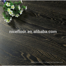 Three layer engineered wood flooring OAK GOLD BLACK DISTRESSED TEXTURE