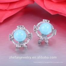 Piercing diamant bijoux or oreille tops dessins accessoires de mode