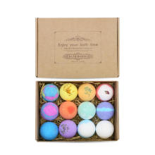 Private Label Gift Box Extract Oil Colorful Bubble Natural Vegan Organic Kids Customize Bath Bombs Gift Sets