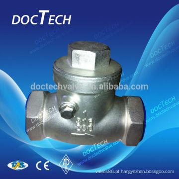 Parafusado Check válvula aço inoxidável CF8 e CF8M