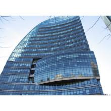 Murs-rideaux en verre structurels de conception moderne