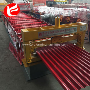 Corrugated cold roof panel metal tile roll forming machine prices