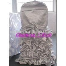 Funda de silla con volantes de boda, fundas de silla de estilo casero