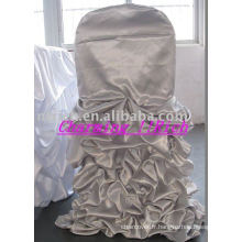 Housse de chaise à volants de mariage, housses de chaise de style maison