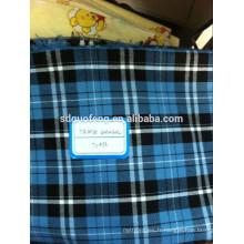Fil de marché des Philippines teints plaine t-shirts coton vérifier chemise tissu