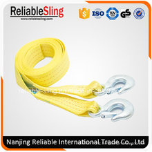Heavy Duty Polyester 4WD Parts Auto Car Towing Belt with Forged Hooks