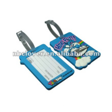 Maßgeschneiderte weiche PVC-Gummi-Gepäckanhänger