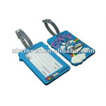 Etiqueta de equipaje de caucho de PVC blanda personalizada