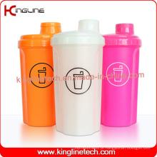 700ml Garrafa de Proteção de Proteína Plástica com Tampa, BPA Grátis (KL-7028)