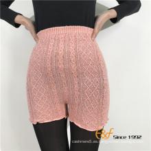 cable de punto coloridos leggings cortos delgados