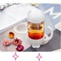 Модная стеклянная чашка с заваркой