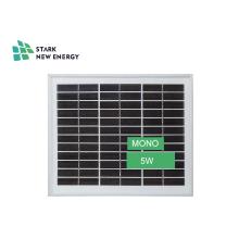 Painel solar pequeno MONO 18V5W para sistema de iluminação