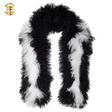 New Products Bicolor Mongolian Lamb Fur Fashion Scarf for Women