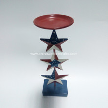 Metal Patriotic Star Candle Holder