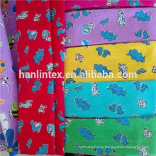 100% cartoon printed soft feeling flannel fabric/130gsm 150gsm Printed flannel