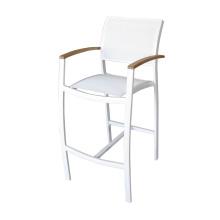 Современный открытый патио Барный стул / стул с батилайн-сеткой Sling Textilene Hotel Bistro Cafe Deck