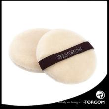 flocado componen el soplo / el soplo cosmético blanco del polvo / el soplo del polvo de la fundación