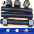 Black finished stud bolt A193 B7 Stud bolt and nut Stud bolt machine
