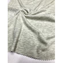 Tissu à tricoter côtelé gris CVC 1 × 1