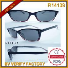 Por mayor dropshipping claro plástico gafas para hombre (R14139)