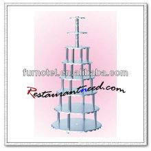 V363 8 Tiers 4 Säulen Hochzeitstorte stehen