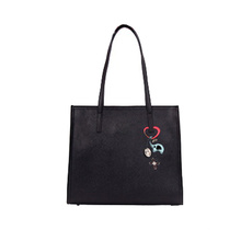 Nova moda bordado Ladies Bag PU Tote Bolsa Wzx1090