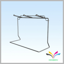 2 pegs grey L shape counter metal underwear display stand
