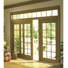 Spacious Bright Vision, Wood Frame Sliding Door with Clear Glass