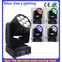 DMX RGBW Bühnenbeleuchtung 12w Strahl bewegte Scheinwerfer
