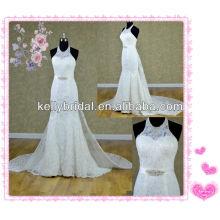 Beliebte Meerjungfrau Stil hohe qaulity Spitze Brautkleider mit abnehmbare Zug