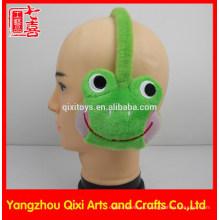 Mono de rana de juguete animal de la orejera de peluche para niños