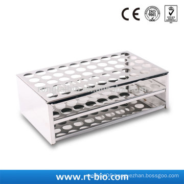 Rongtaibio Stainless Steel Test Tubes Rack Dia.14mm*50hole