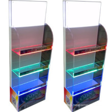 Clear Acrylic Bottle Display Stand with LED Light