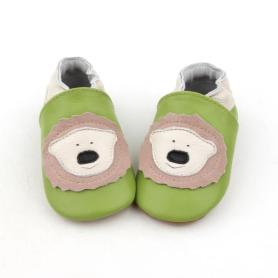 Animal Pattern Cute Baby Zapatos de cuero suave