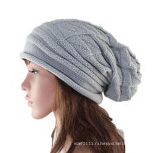 Леди мода акриловые трикотажные зима теплая Шапочка Hat (YKY3123)
