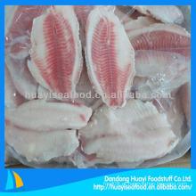 Fatias de tilápias congeladas a granel de boa qualidade