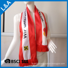Polyester Color Blue Football Fans Scarf Red