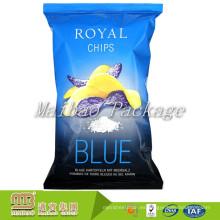 Lámina de plástico impresa personalizada forrada Snacks desechables Sello trasero Patatas Chips Bag Bag Manufacturer