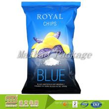 Custom Printed Plastic Foil Lined Disposable Snacks Back Seal Packaging Potato Chips Bag Manufacturer