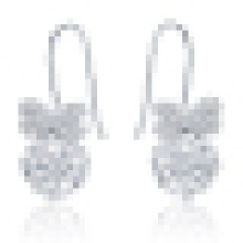 Damenmode Schmetterling Kristall Ohrringe
