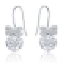 Boucles d'oreilles en cristal papillon pour femme