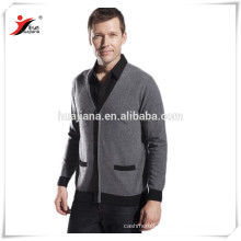 cashmere knitting men's cardigan